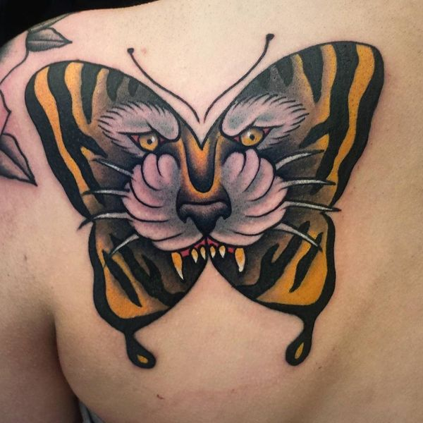 Butterfly Tattoo Back 3