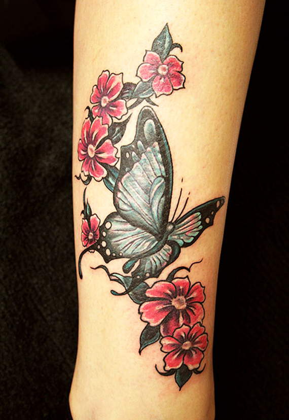 Butterfly Tatttoo Forearm