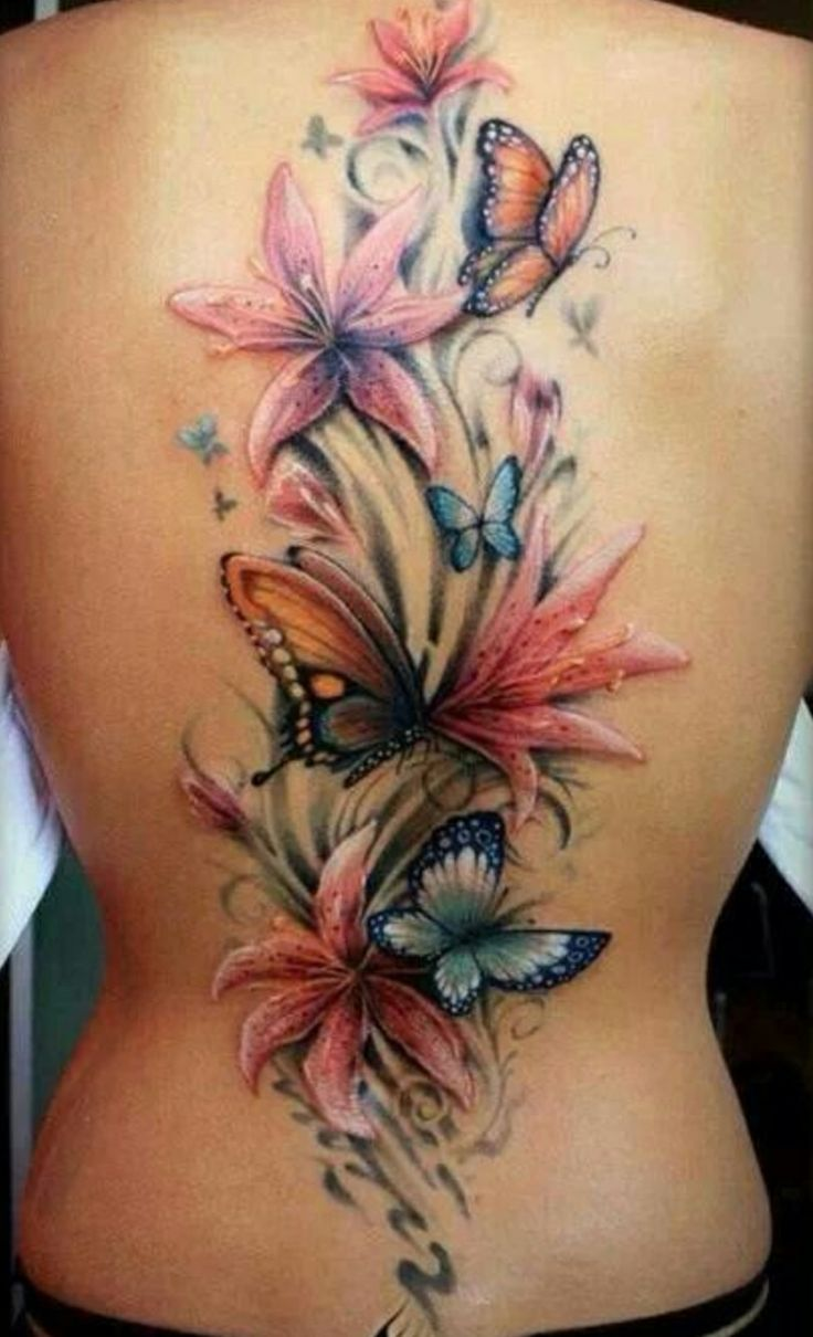 Butterfly Tattoo Back 2