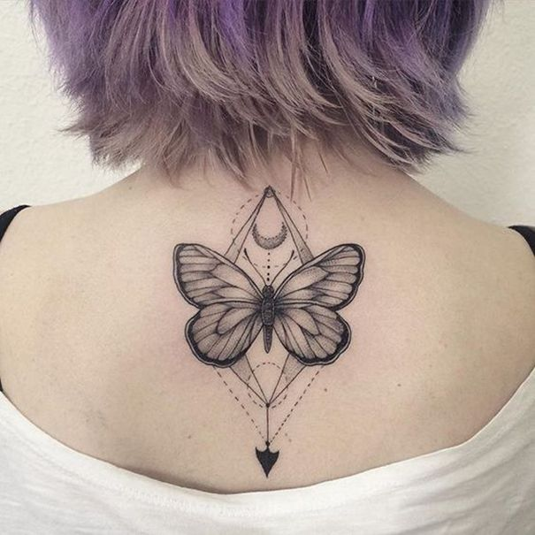 Butterfly Tattoo Back