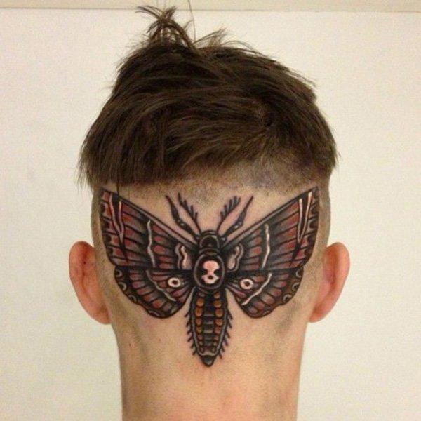Butterlfy Tattoo Head