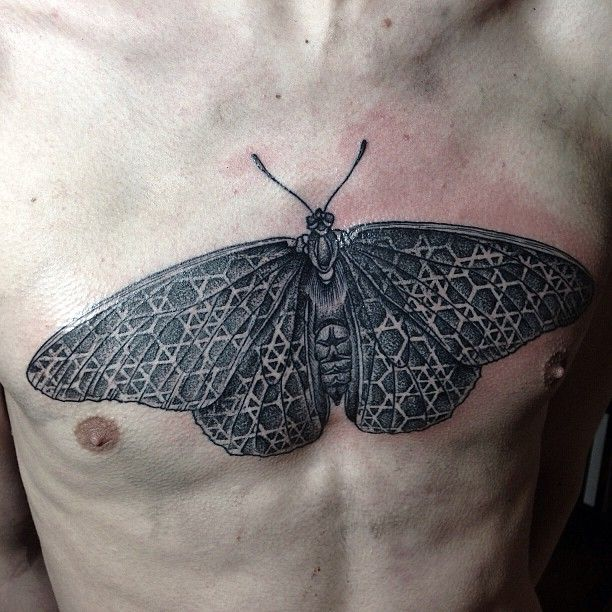 Butterfly Tattoo Chest