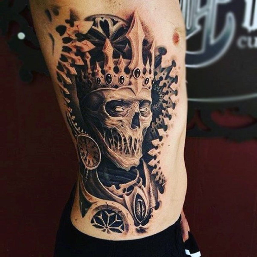 skull tattoo men