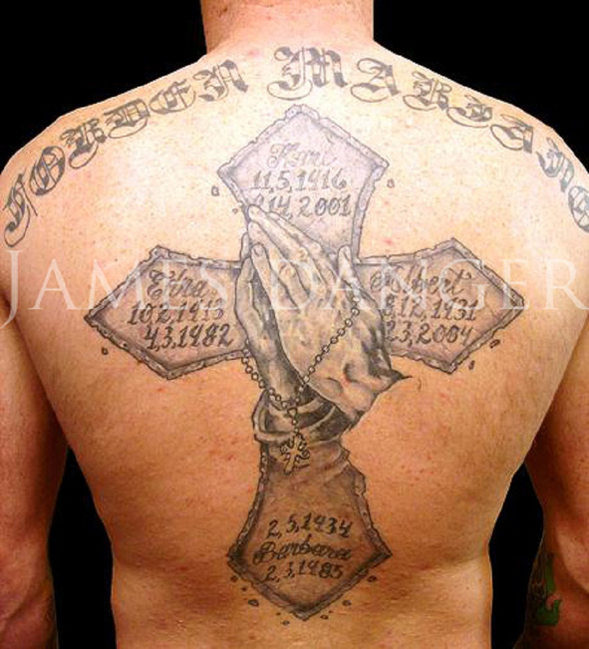 praying hands tattoo memorial