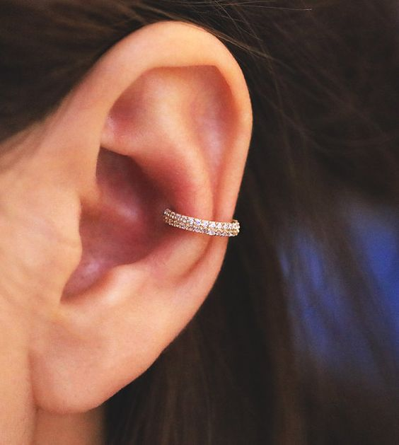 conch piercing for female model