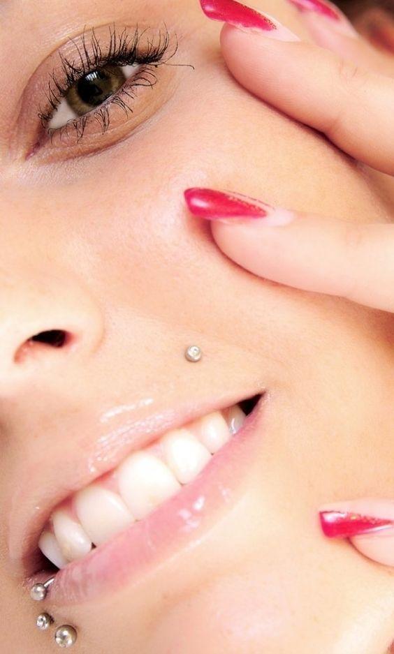 closeup monroe piercing