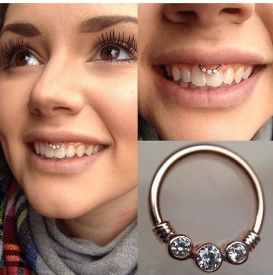 cute jewelry smiley piercing