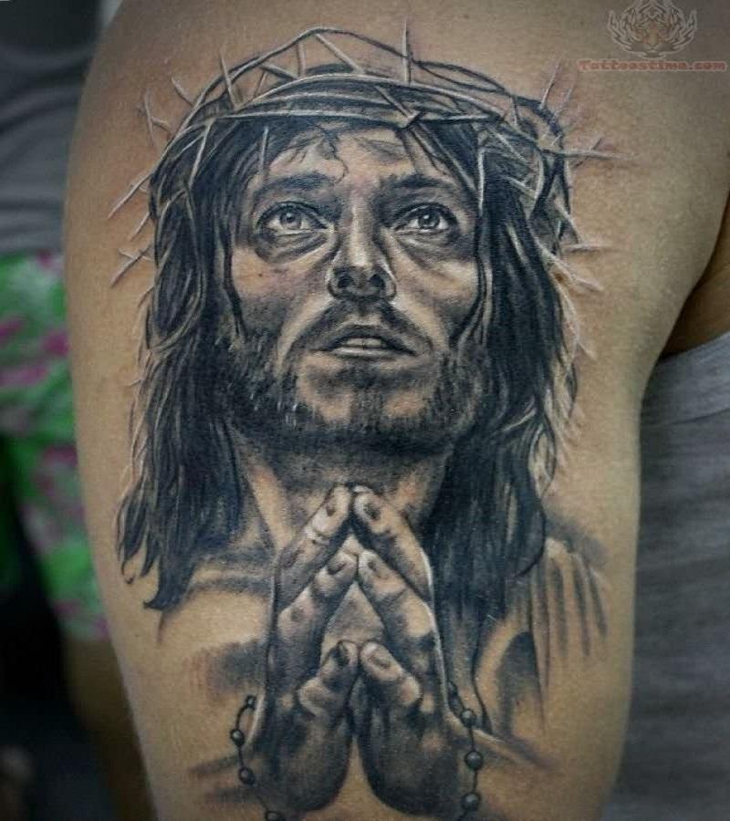 praying hands tattoo rosary