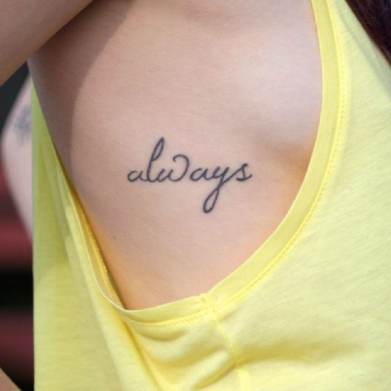one word tattoo women