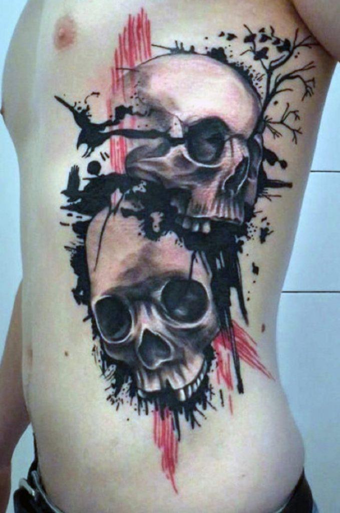 skull tattoo men