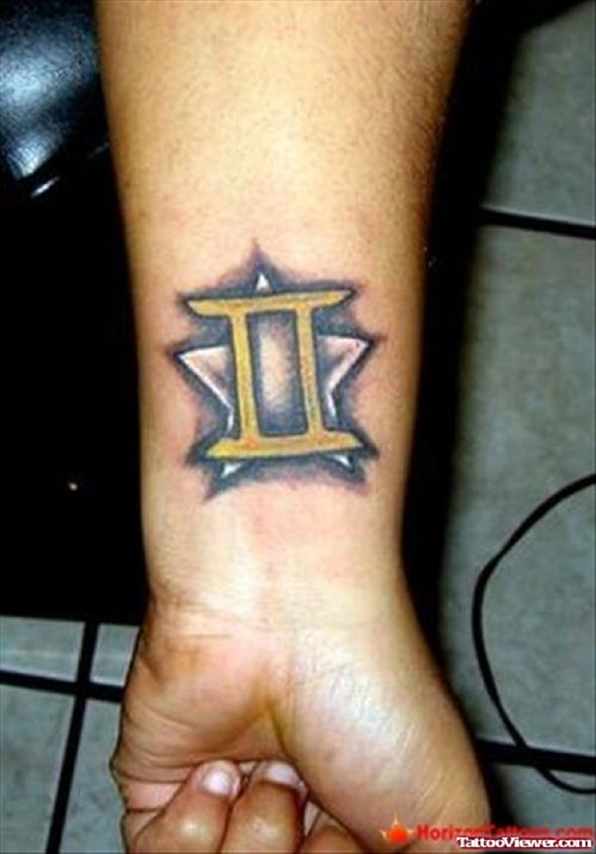 gemini tattoo placement