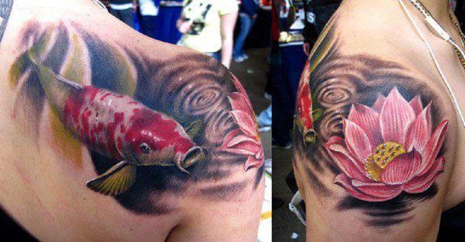 3d koi fish tattoo