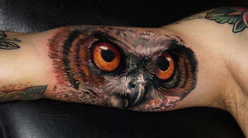 owl tattoo big eyes