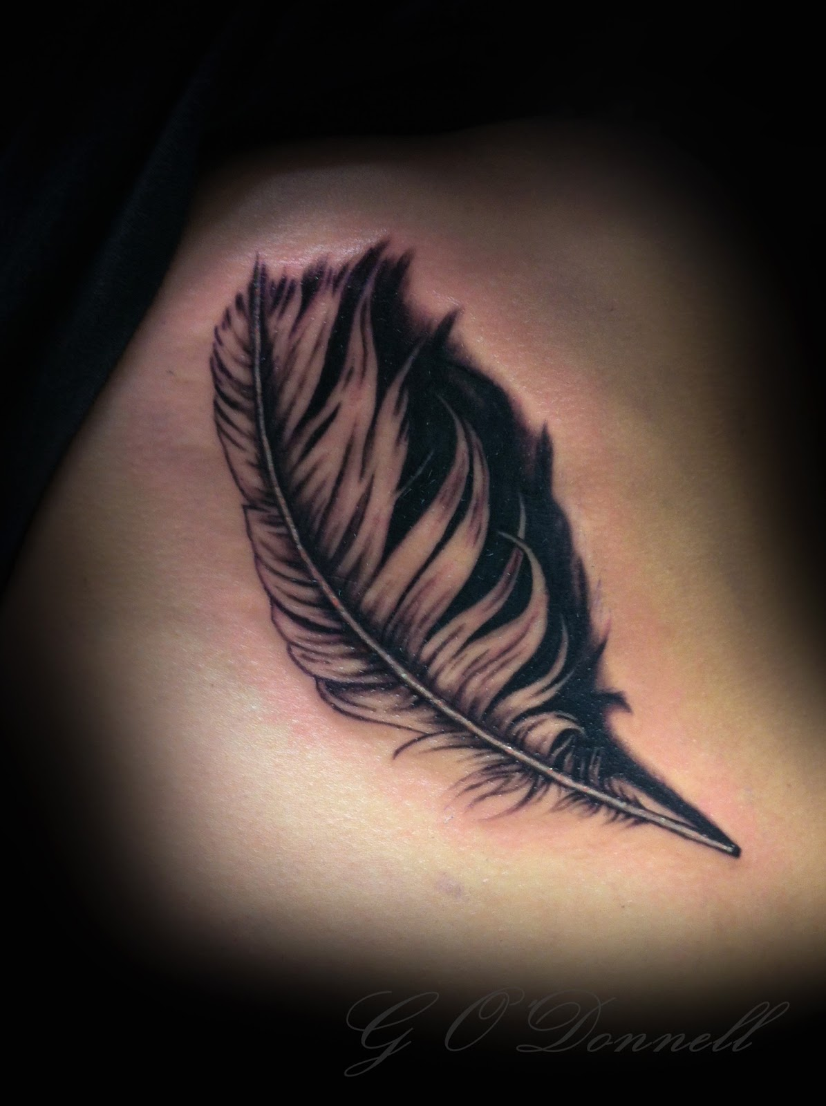 3d tattoo feather 5
