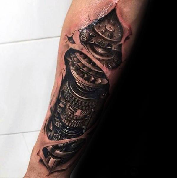 3d tattoo forearm 1
