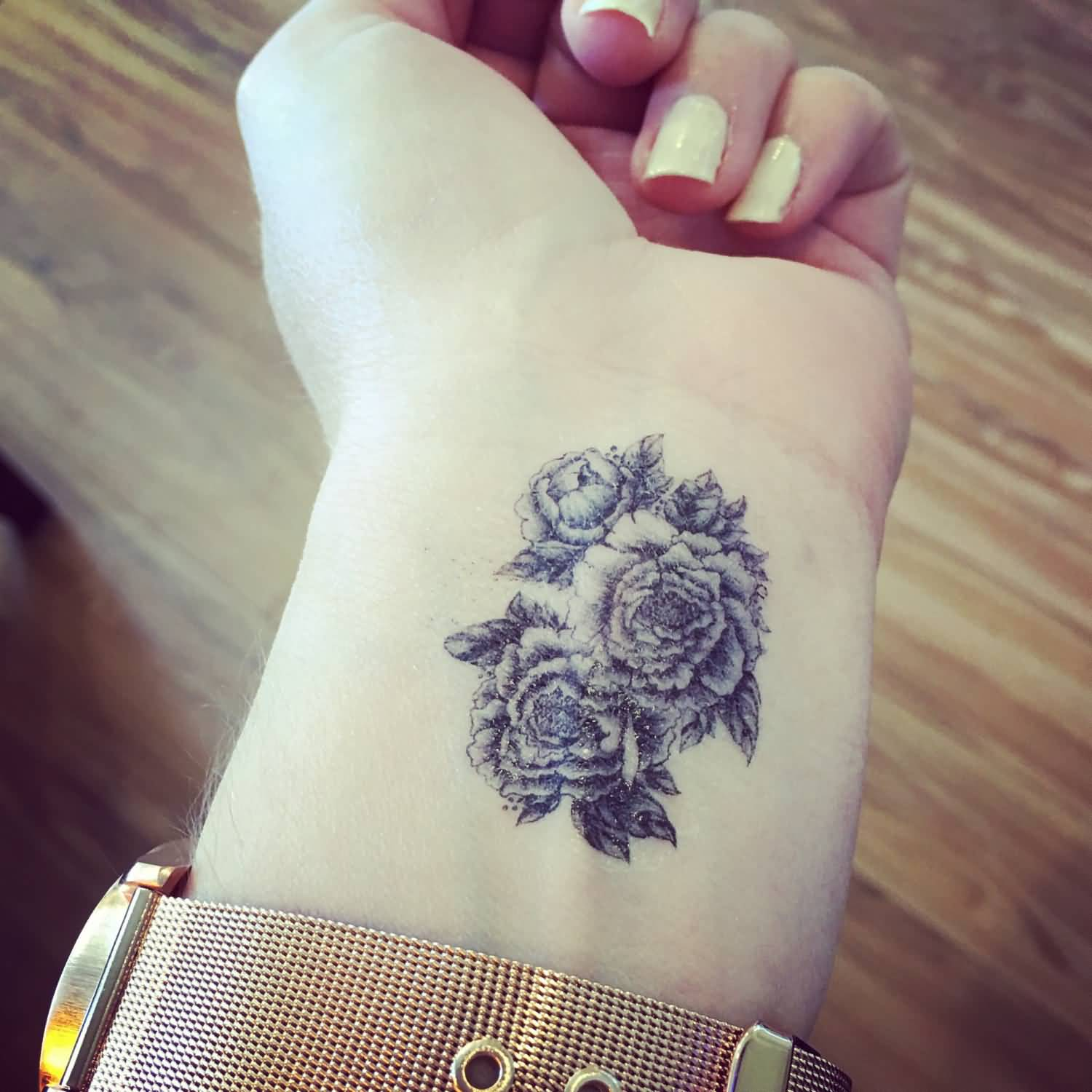 Image result for flower tattoos wrist