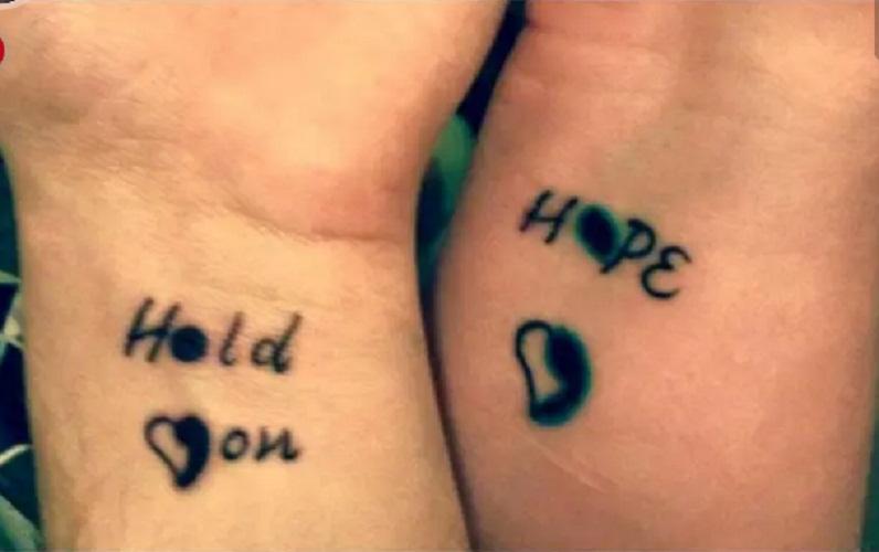 semicolon hand tattoo men