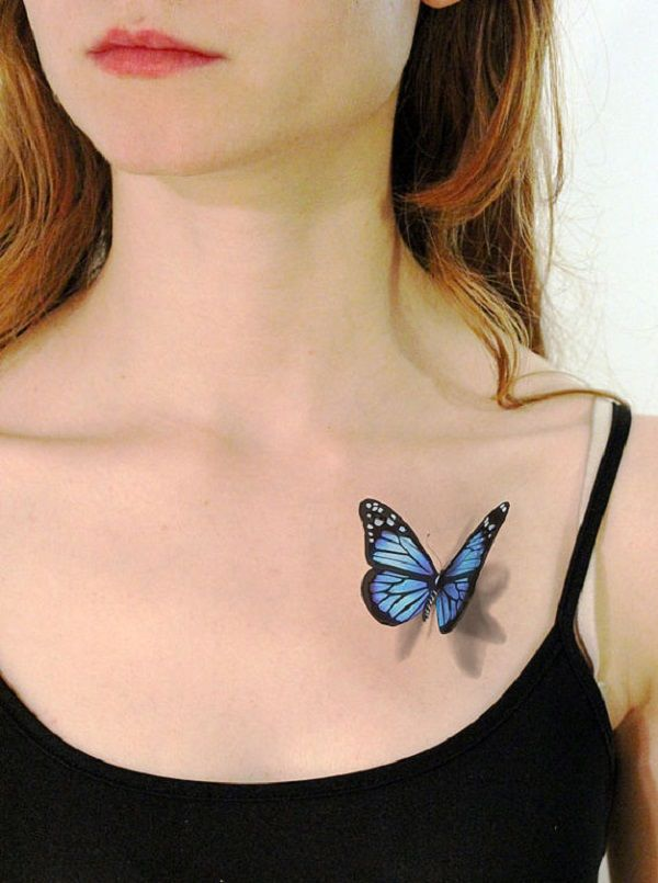Butterfly Tattoo Chest 4