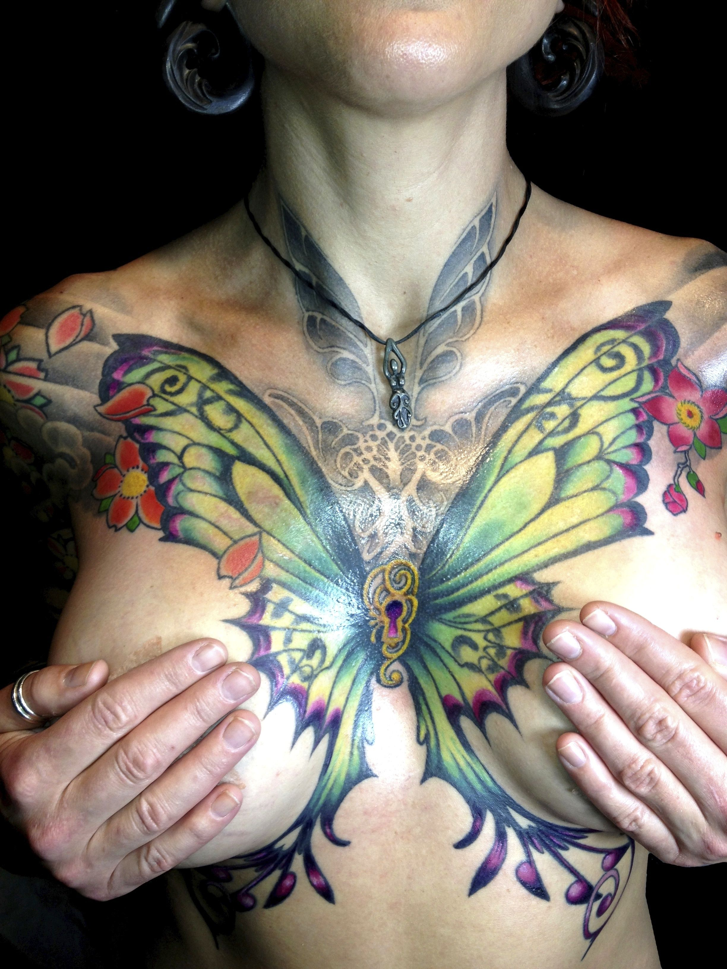 Butterfly Tattoo Chest 5