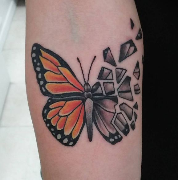 Butterfly Tattoo Forearm 3
