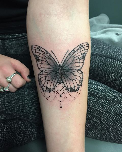Butterfly Tattoo Forearm