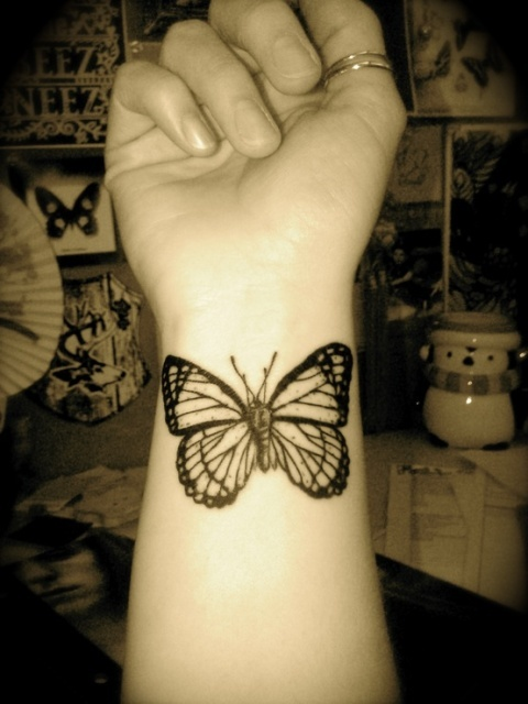 Butterfly Tattoo Wrist 4