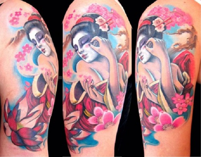 cherry blossom tattoo geisha