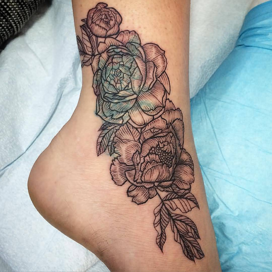 98238868a6a50 50+ Peony Tattoo Designs That Will Make Your Body a Blooming Garden ...