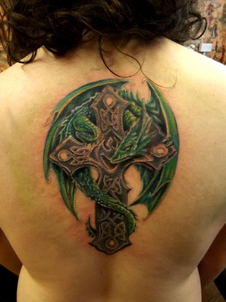 celtic cross tattoo women