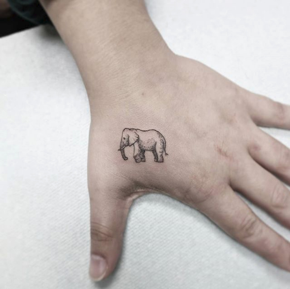 elephant tattoo women
