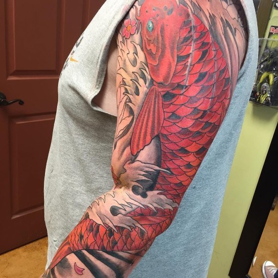 50 Koi Fish Tattoo Designs For Men: 50+ Koi Fish Tattoo Design Variations With Different