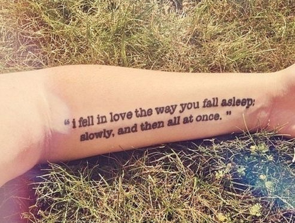 book tattoo quote