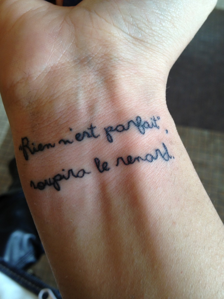 book tattoo quote