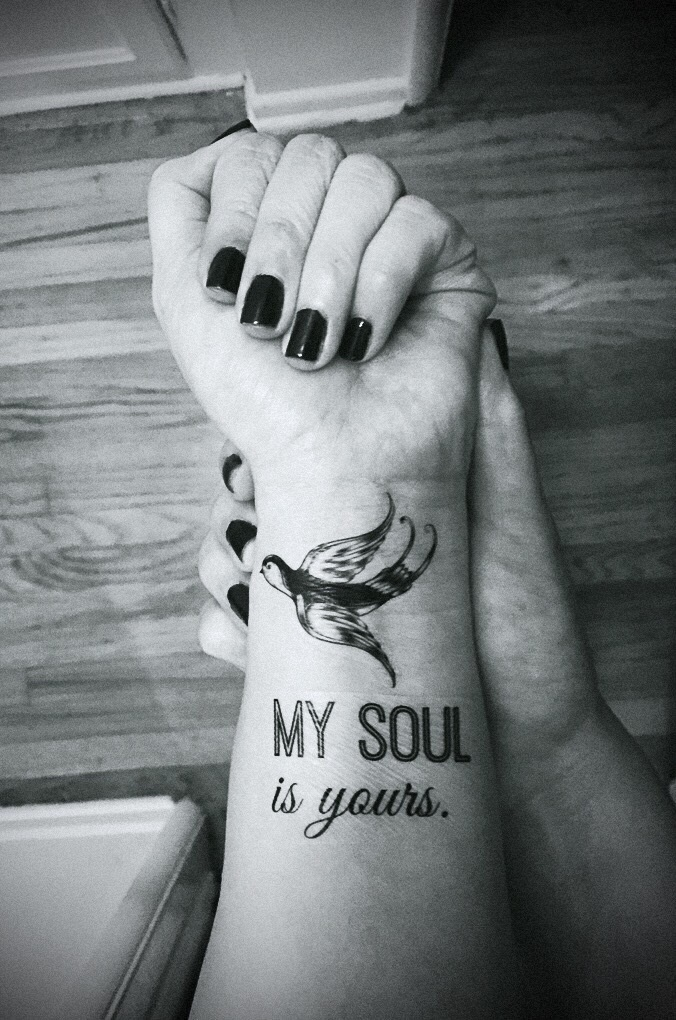 book tattoo wrist
