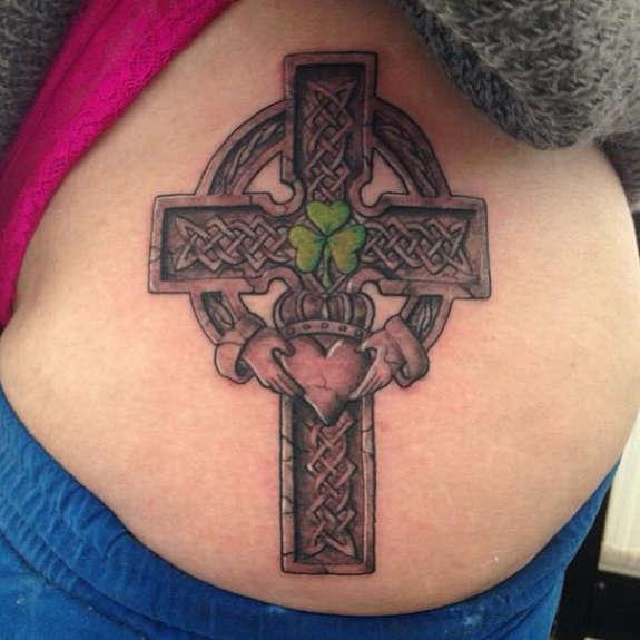 celtic cross tattoo women