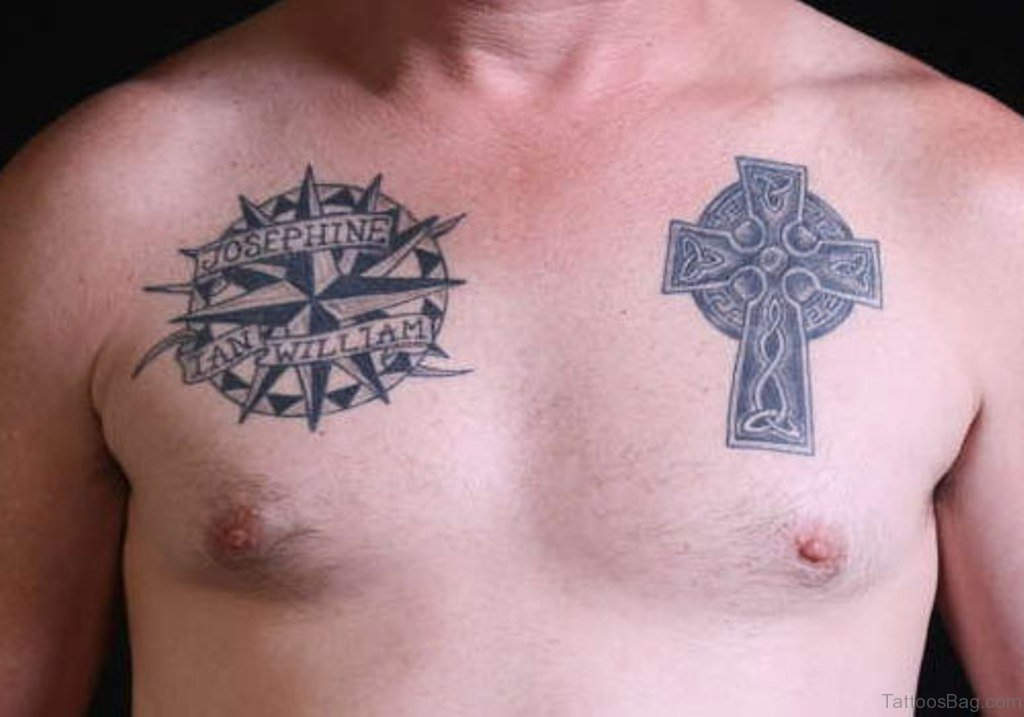 celtic cross tattoo men