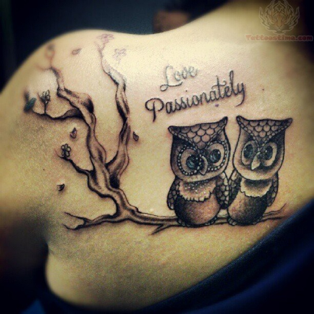 owl tattoo love