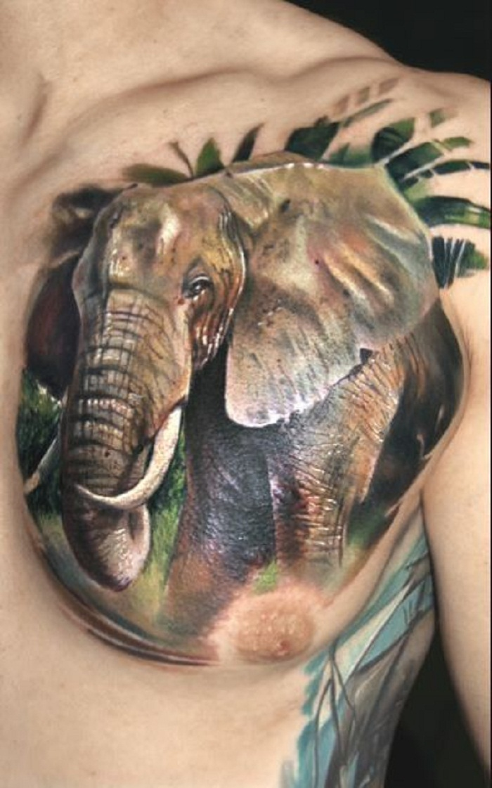 elephant tattoo men