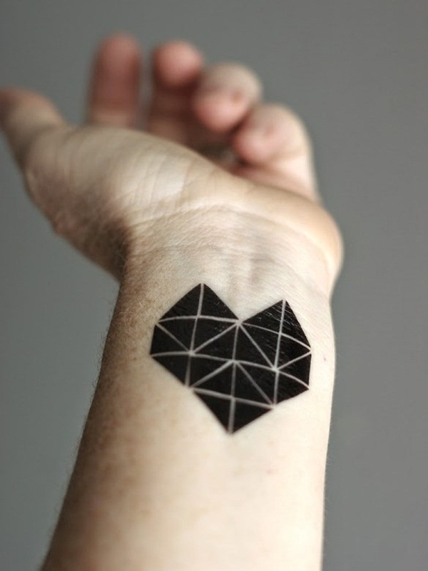 geometric tattoo wrist 2