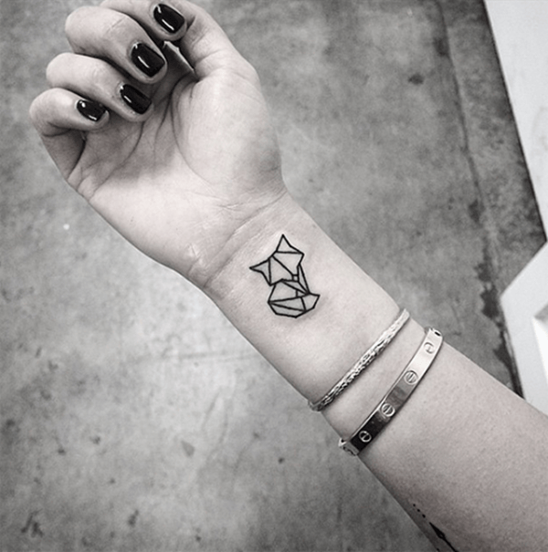 geometric tattoo wrist