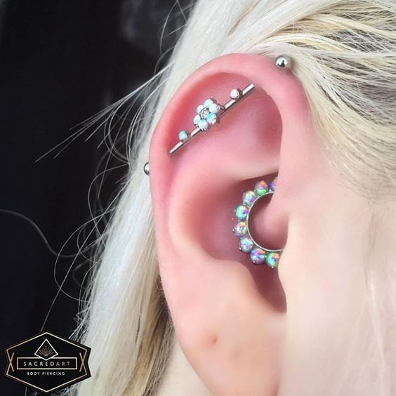 holographic jewelry for daith piercing