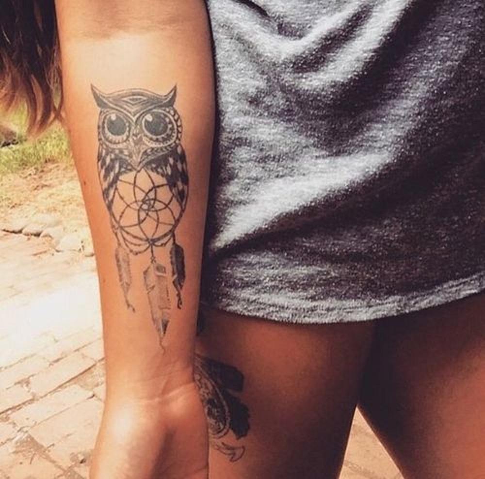 owl tattoo dreamcatcher