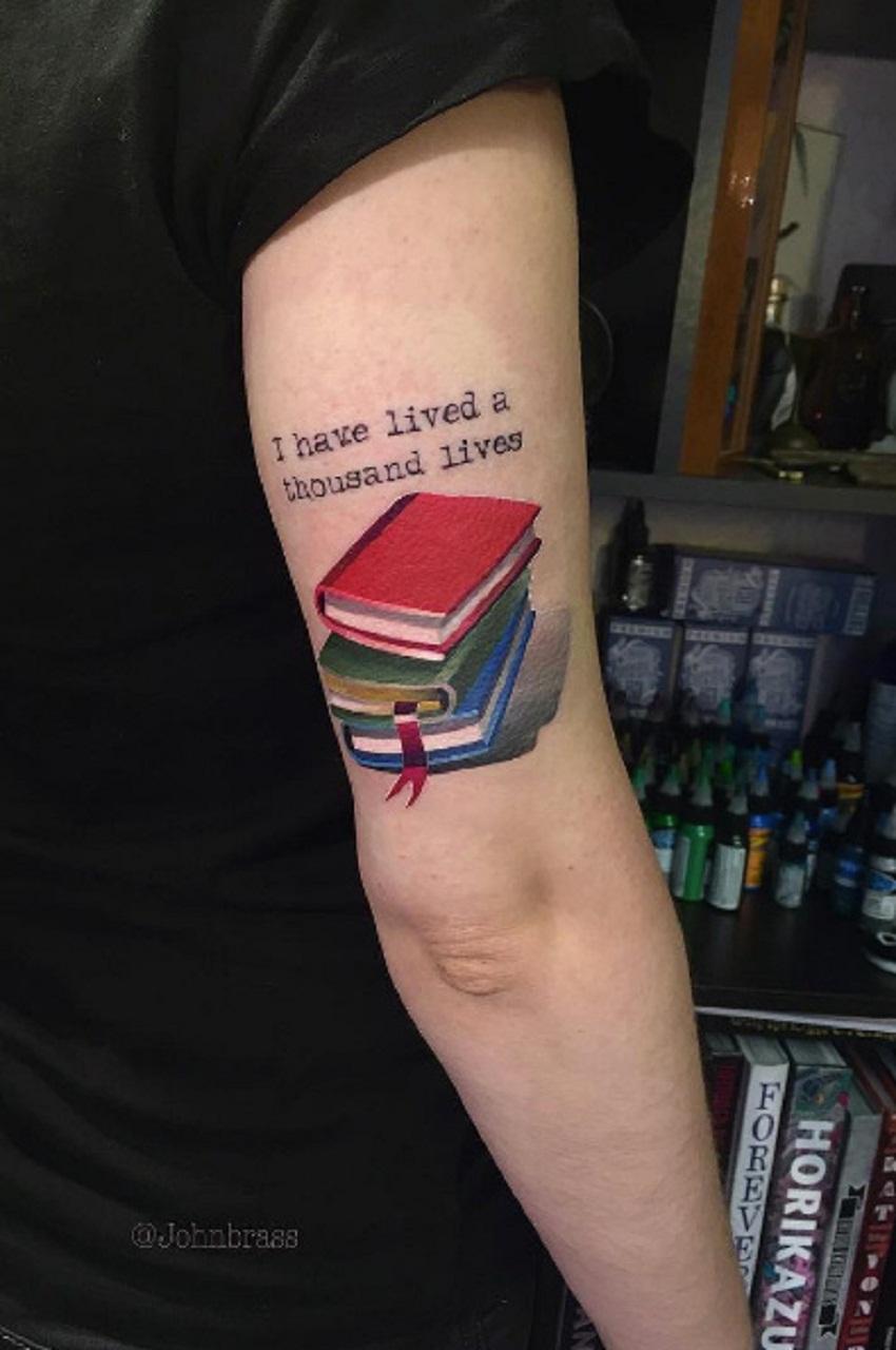 Small Book Tattoo: 40+ Beautiful Book Tattoo Ideas For Every Bibliophile