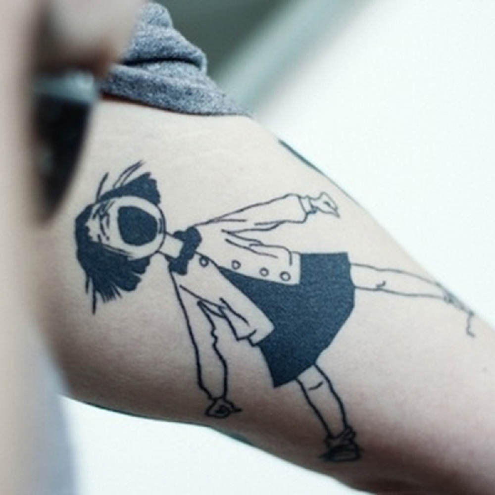 book tattoo illustration