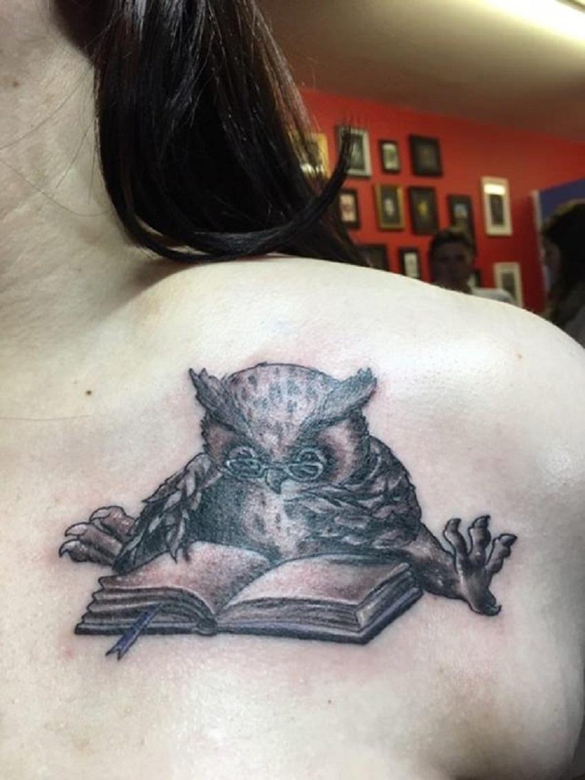 owl tattoo book
