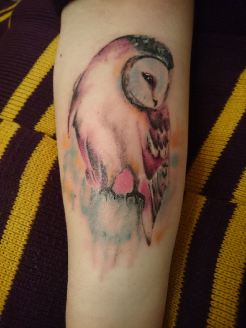 owl tattoo shy