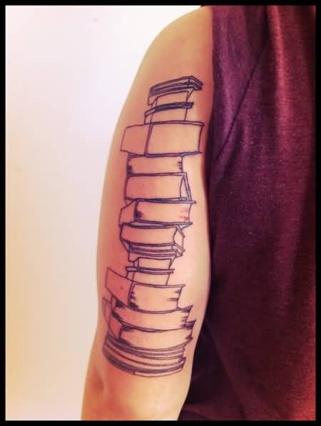 book tattoo tricep