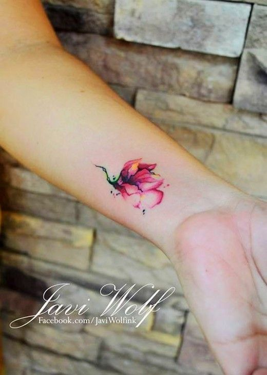 watercolor tattoo wrist