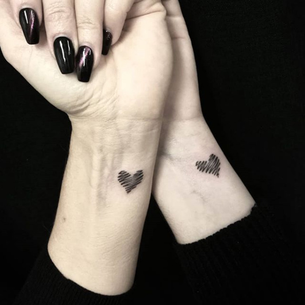mother daughter tattoos wrist