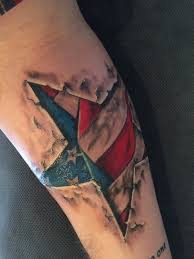 3D American Flag Tattoo 6